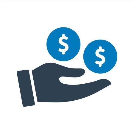 Investment money icon