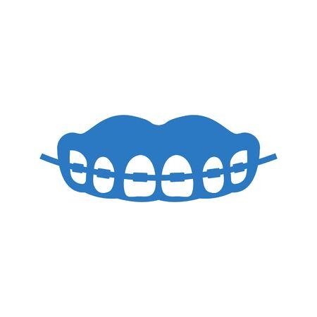 Teeth brace icon Archivio Fotografico - 149852450