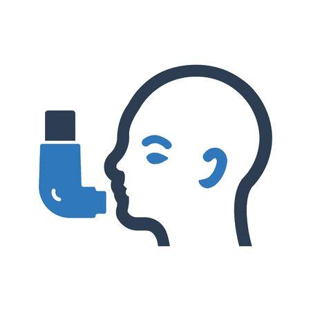 inhaler icon vector.