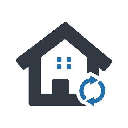 House Plan Icon 일러스트