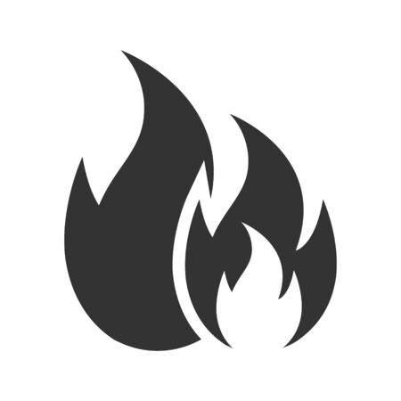 Fire burning, Flame or Fire icon 일러스트