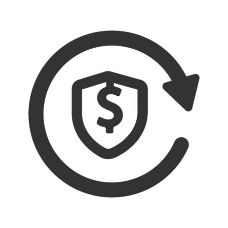 Business dollar security, protection icon