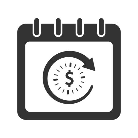 Business event management, time schedule icon