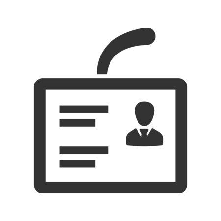 Identity card, pass, id, user icon
