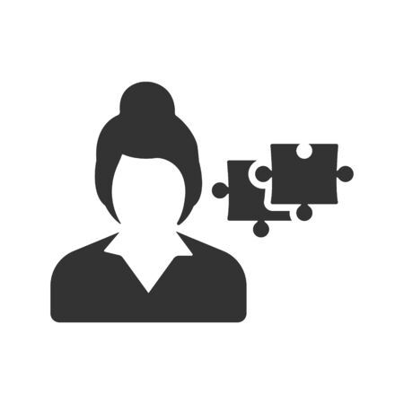 Business problem solving, puzzle icon