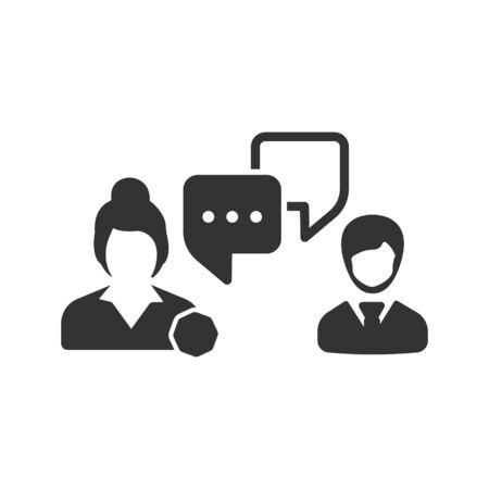 Business communication, Business discussion, conversation icon