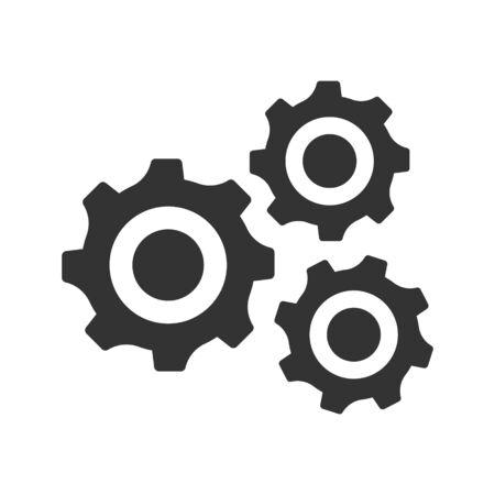 Configuration, customize icon. vector graphics Vettoriali