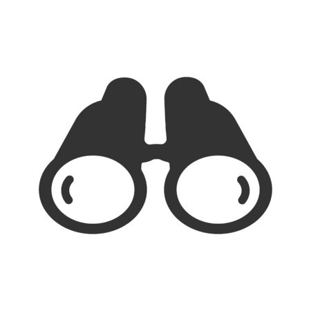 Binocular Icon, Business Forecasting vector