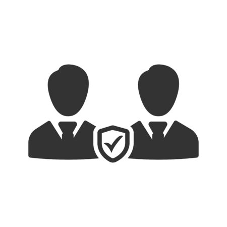 Business employees security icon Vettoriali