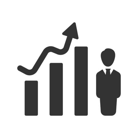Financial Upward Icon, Trending Arrow Icon Vettoriali