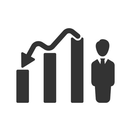 Trends arrows, Downward Analysis Icon