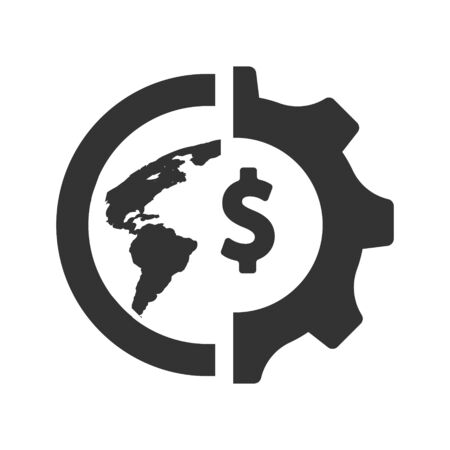 Global Economic Icon, Business Finance Economics vector