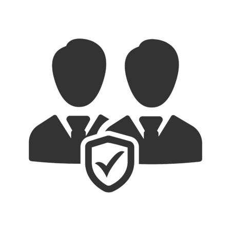 Business employees security, protection icon