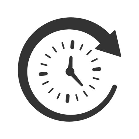 Time Management Icon, Time Planning Vettoriali