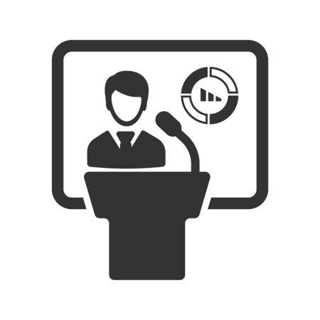 Business report, presentation, statistics icon Vettoriali
