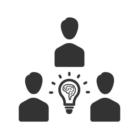 Creative business team icon, Teamwork problem solving, support team vector