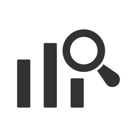 Online marketing report, analysis icon