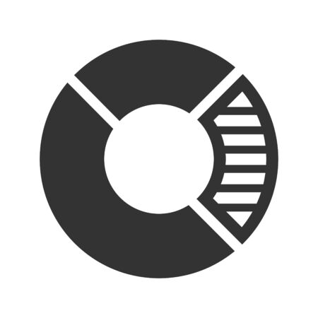 Search report, research, statistics icon Vettoriali