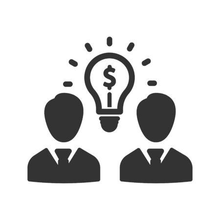 Business creative solution, business idea icon Vettoriali