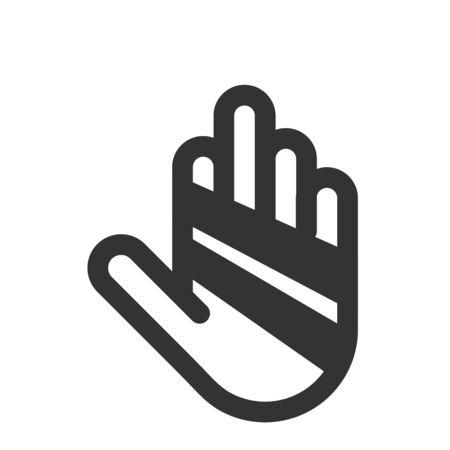 Hand With Bandage Icon, finger with bandage icon Illustration