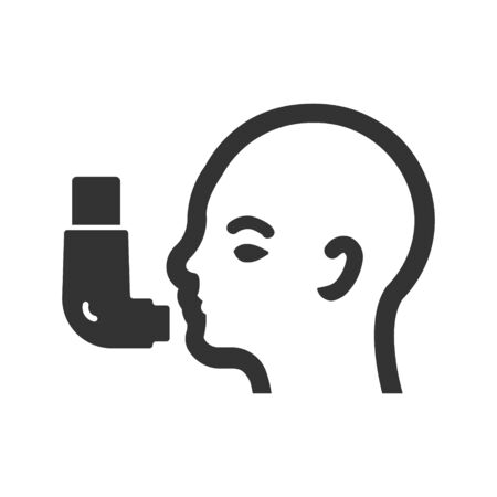 inhaler icon vector illustration