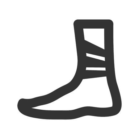 Leg injury icon illustration Ilustracja