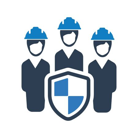 Employee Protection, Employer Insurance Icon Archivio Fotografico - 150228330