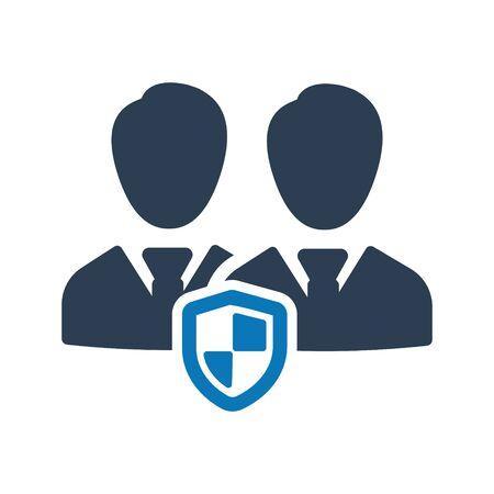 Business employees security, protection icon Archivio Fotografico - 150228331