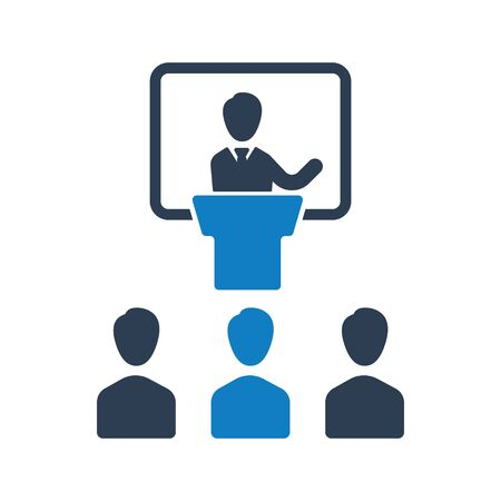 Business meeting, conference, teamwork icon