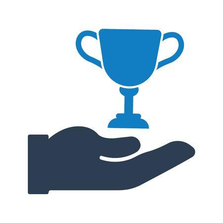Business winner, success, achievement icon