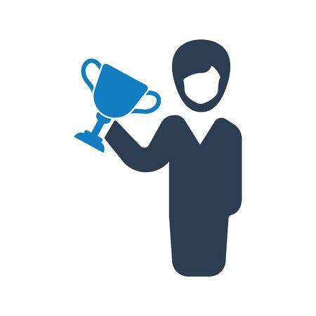 Business winner, business victory icon
