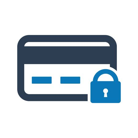 Credit Card Protection Icon, Secure banking, Protection shield vector Archivio Fotografico - 150228348