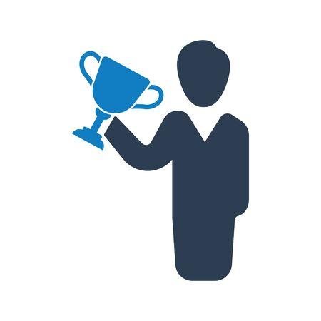 Business victory, success, achievement icon