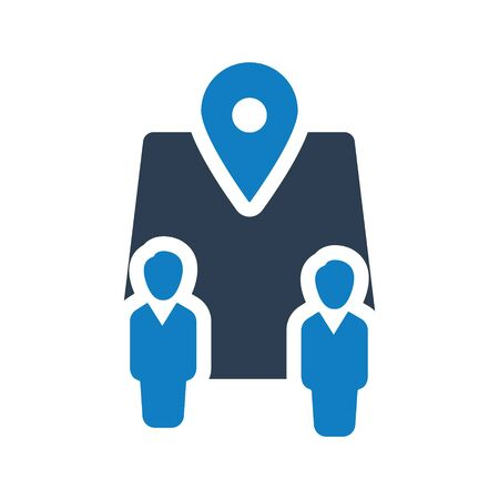 Business Location Icon, Business network, Business direction icon Vettoriali