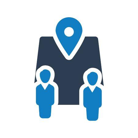 Business Location Icon, Business network, Business direction icon Archivio Fotografico - 150228437