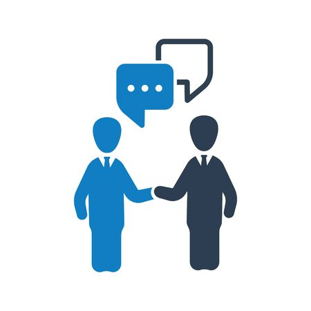 Business discussion, conversation, talk icon Vettoriali