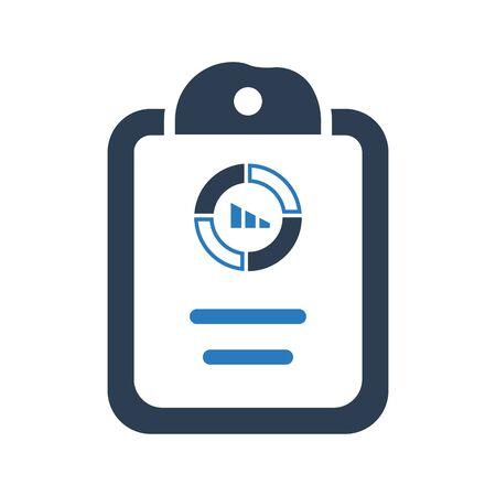 Chart Analytics Report Icon, Financial report, financial, pie chart vector Archivio Fotografico - 150228442