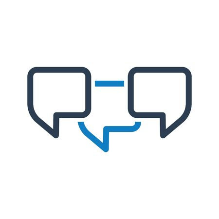 Communication Icon, Business discussion, conversation, talking Vettoriali