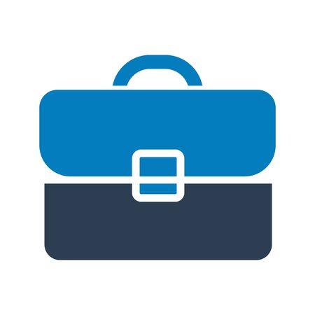 Briefcase, Office bag, Creative Icon