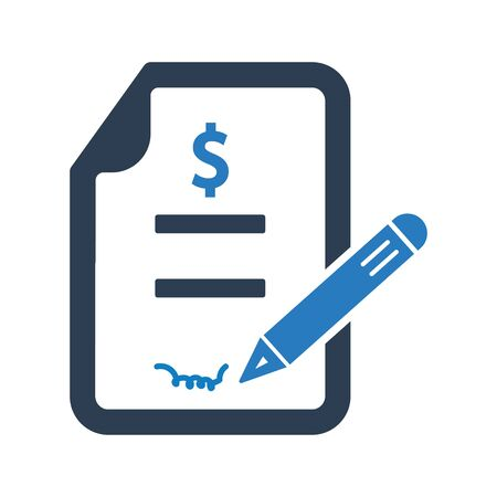 Sign a Business Deal Icon
