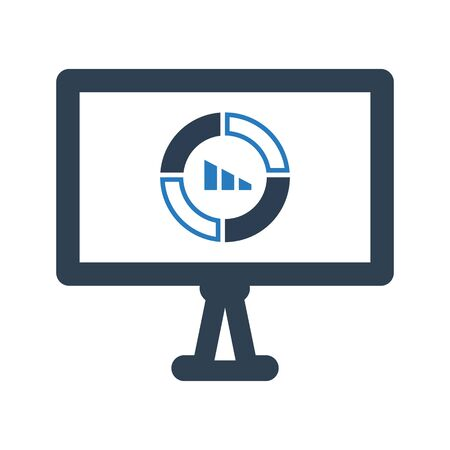 Financial report, financial, pie chart icon Archivio Fotografico - 150228456