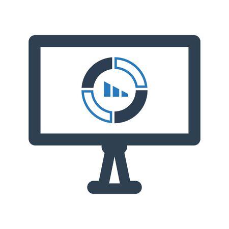 Financial report, financial, pie chart icon Vettoriali