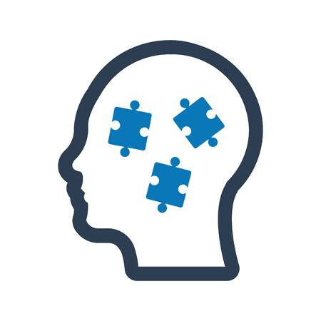 Solution Icon, Business problem solving, puzzle vector
