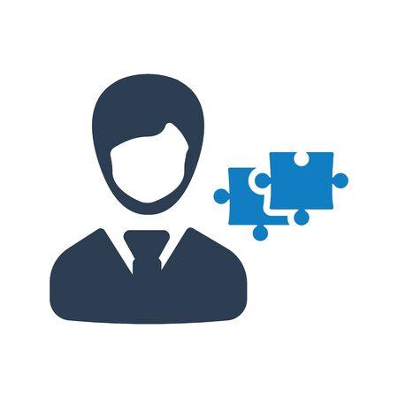 Technical solution, service, Puzzle solution icon Archivio Fotografico - 150228469