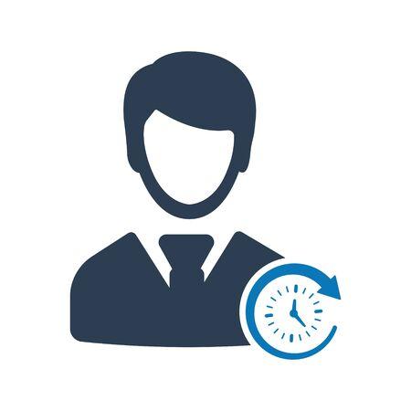 Business Punctuality Icon Archivio Fotografico - 150228472