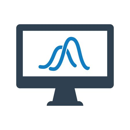 Graphical Analysis, sales report Icon, Statistics report icon Vettoriali