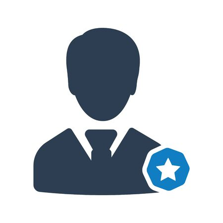 Business Manager Icon, Business person vector Archivio Fotografico - 150228475