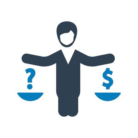 Business Law, Currency balance icon Archivio Fotografico - 150228496