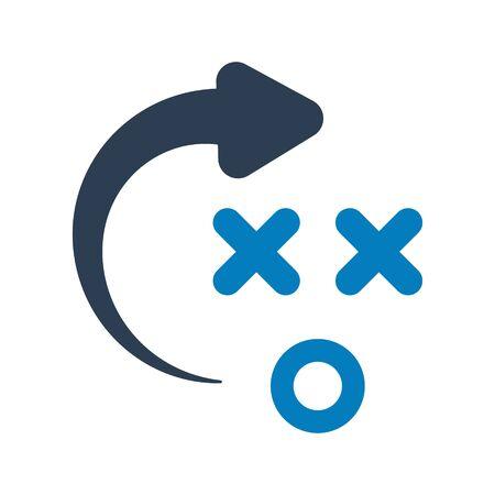 Strategic solution, tactics, business plan icon