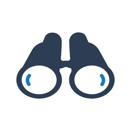 Binocular Icon, Business Forecasting vector Archivio Fotografico - 150228488
